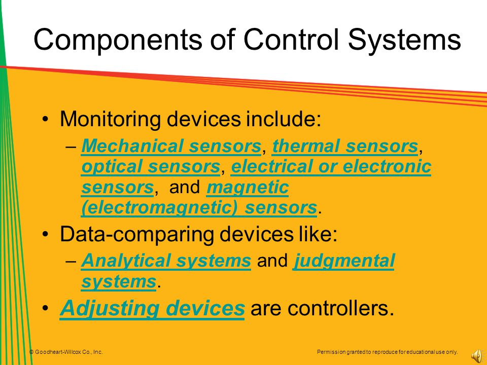 Components of Control Systems