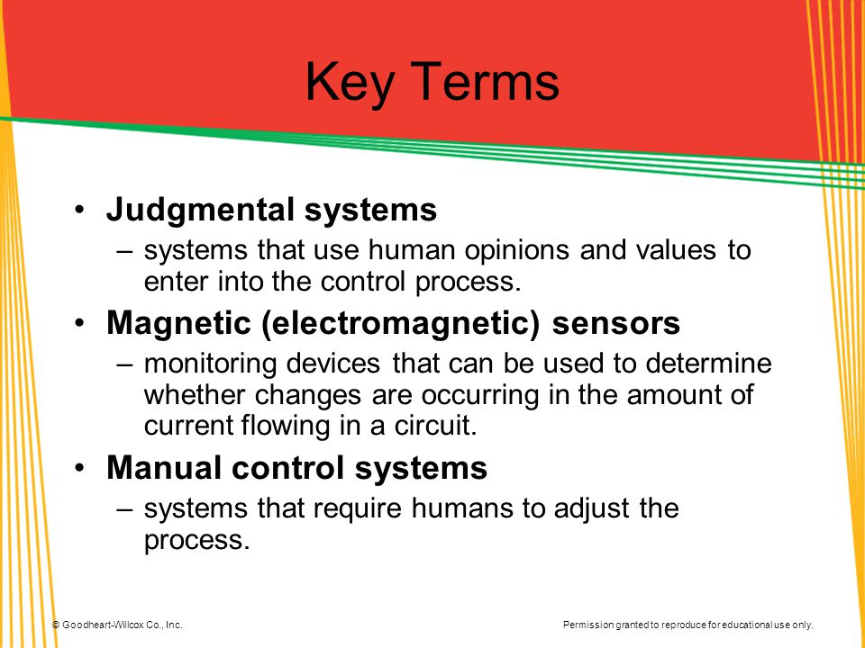 Key Terms Judgmental systems Magnetic (electromagnetic) sensors