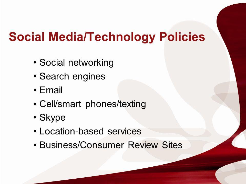 Social Media/Technology Policies