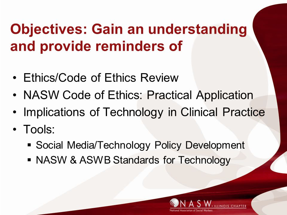 Objectives: Gain an understanding and provide reminders of