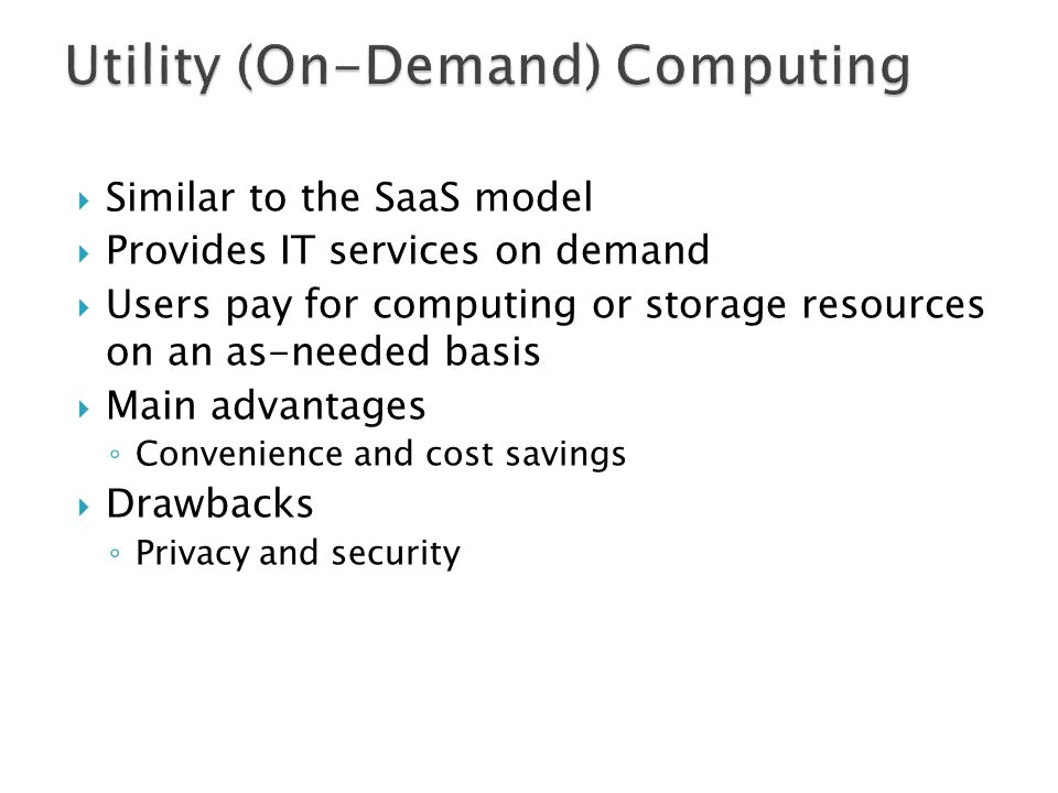 Utility (On-Demand) Computing