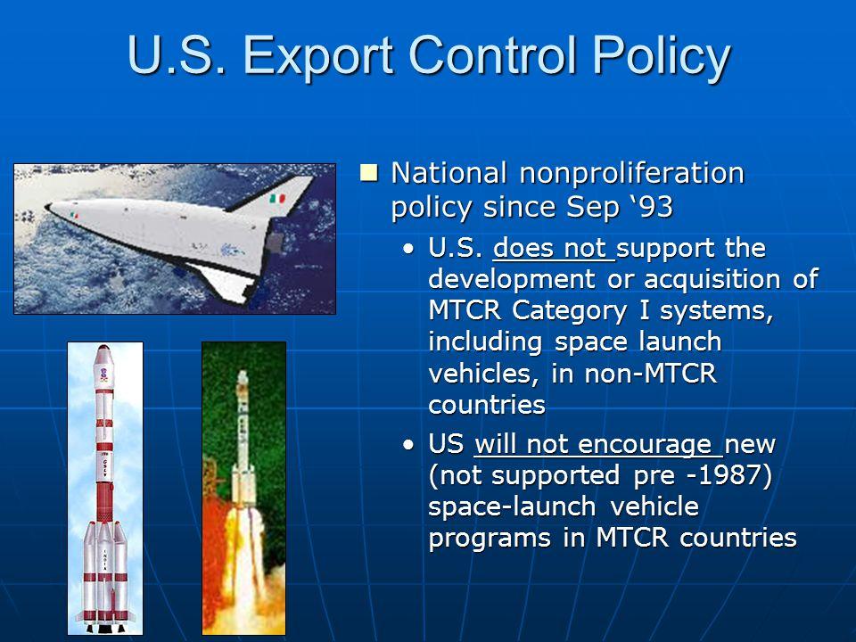U.S. Export Control Policy