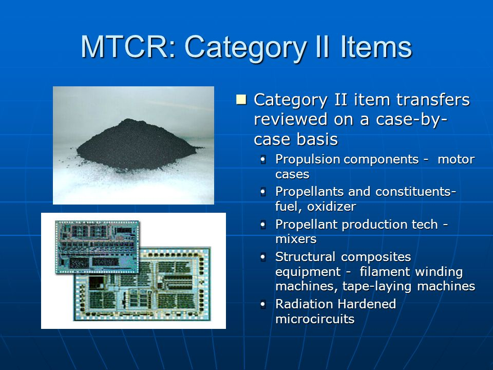 MTCR: Category II Items