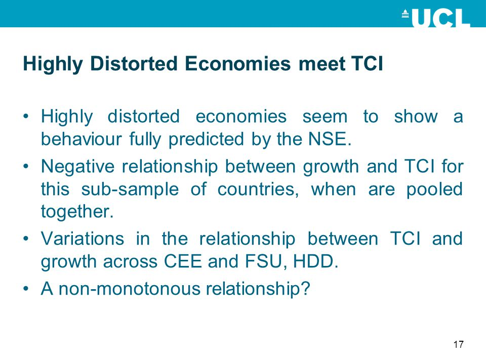 Highly Distorted Economies meet TCI