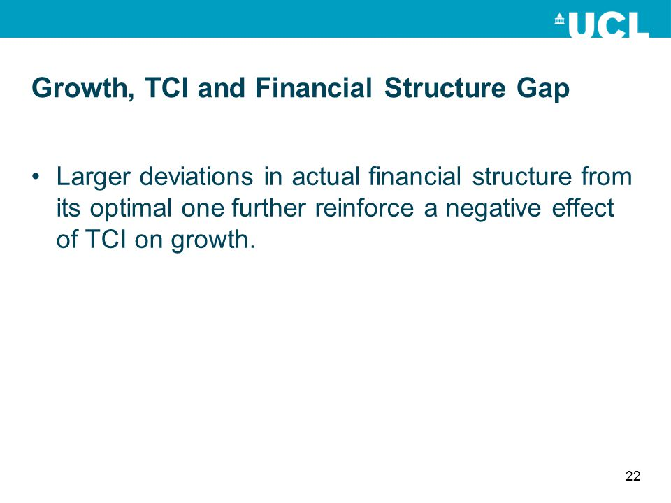 Growth, TCI and Financial Structure Gap