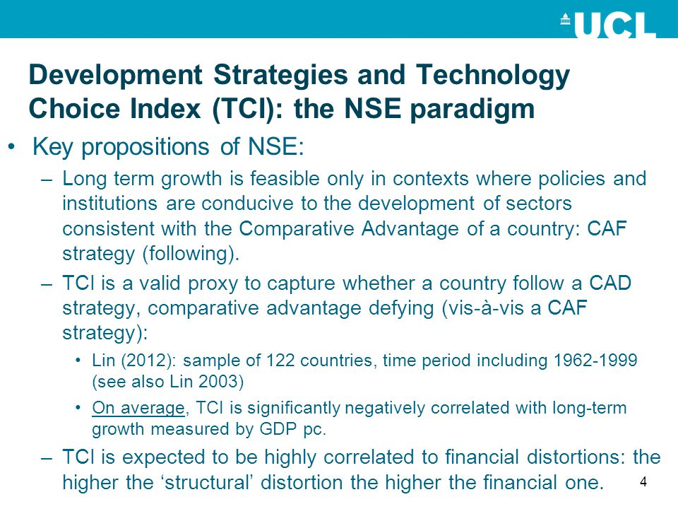 Development Strategies and Technology Choice Index (TCI): the NSE paradigm