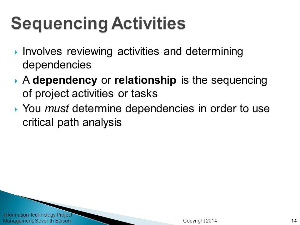 Sequencing Activities