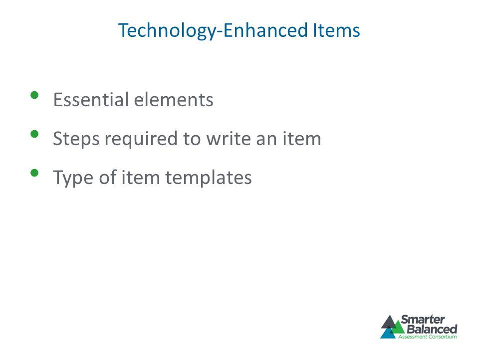 Technology-Enhanced Items
