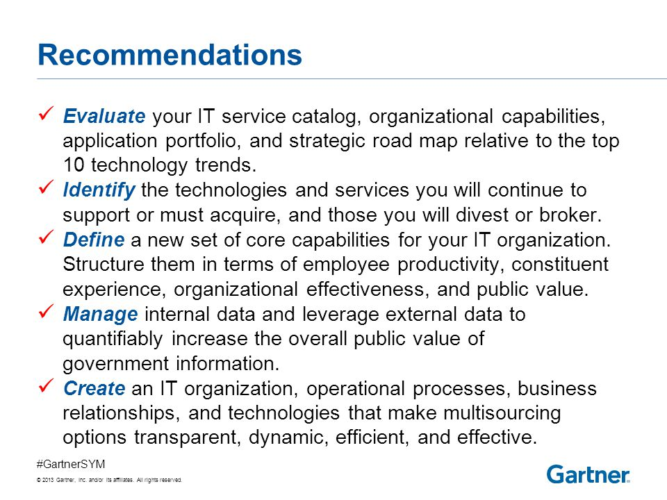 Recommended Gartner Research
