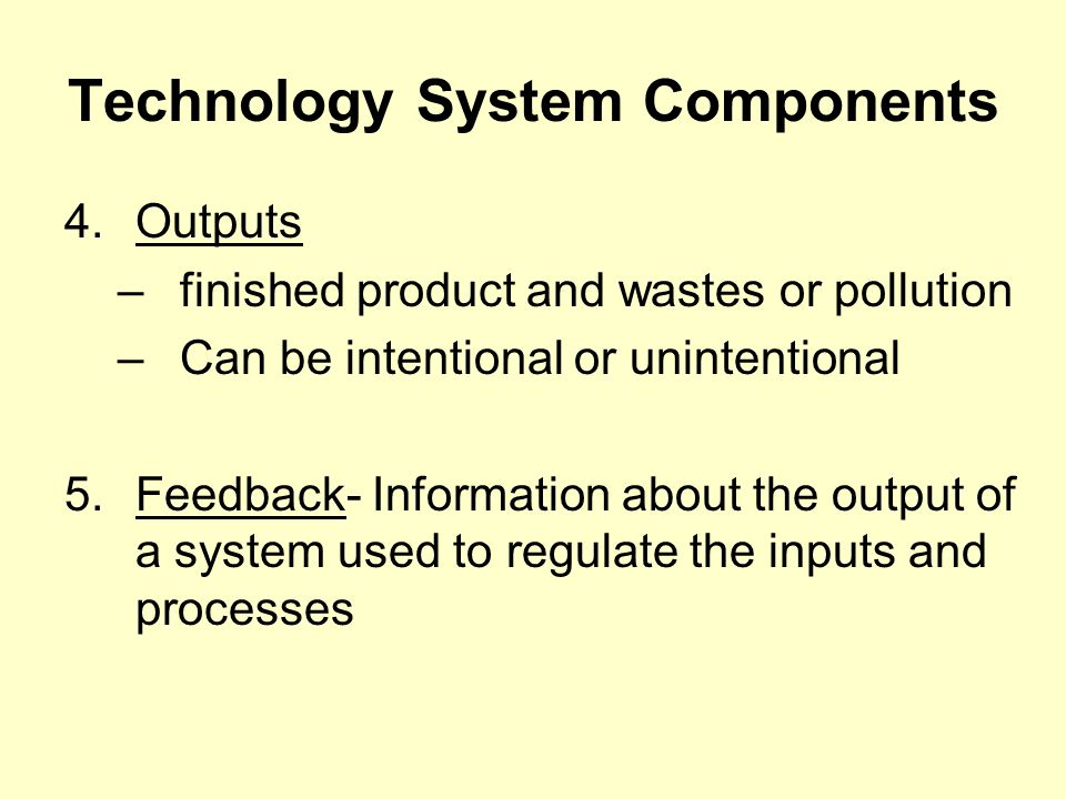 Technology System Components