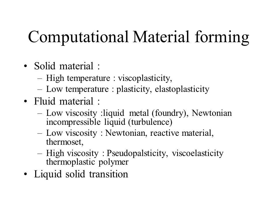 Computational Material forming