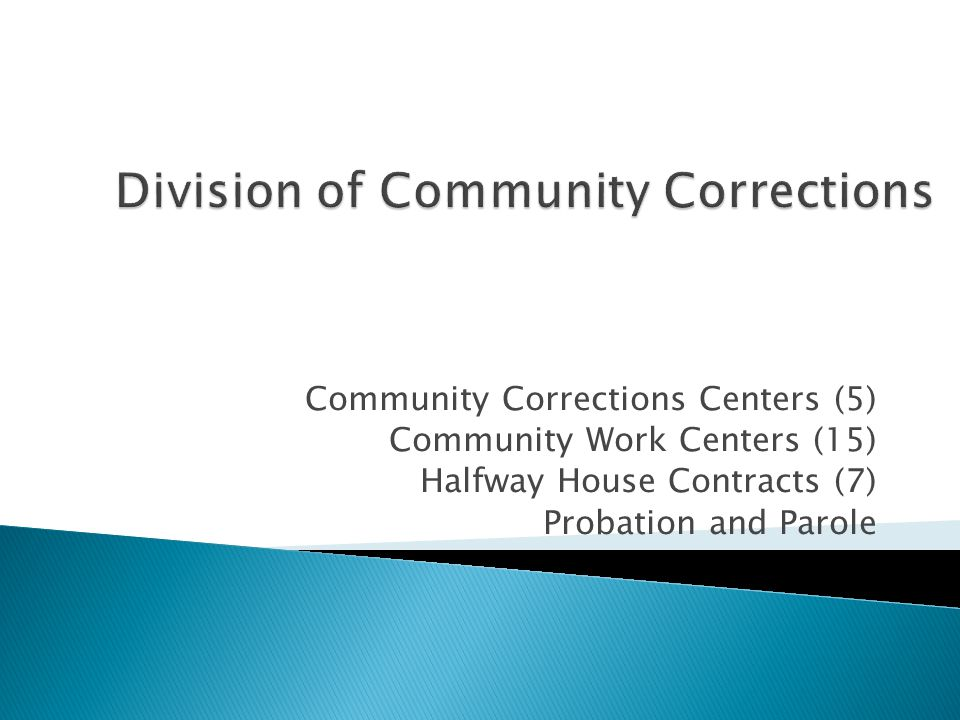 Division of Community Corrections