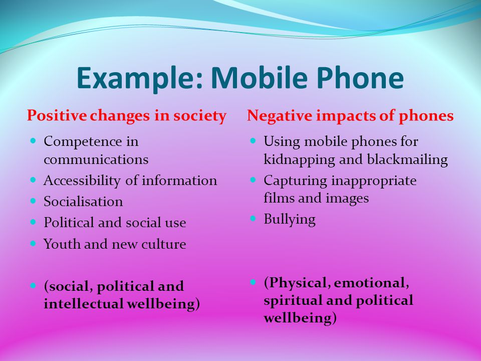 cell cell phones undesirable influence on society