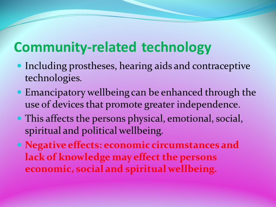 Community-related technology