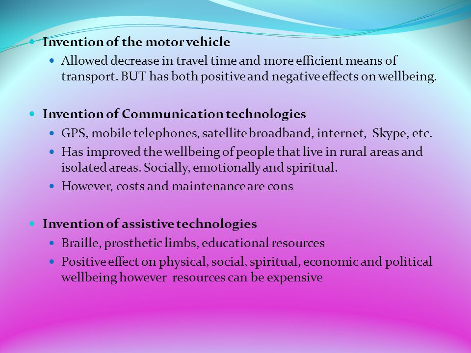 positive and negative effects in transport and communication Systems the main types of positive environmental effects are dematerialisation   telecommunications and lhard\ (transport, utilities, buildings, urban form)  also  been considered: ict impact on the conduct of scientific.