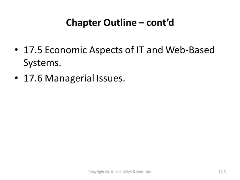 Chapter Outline – cont'd