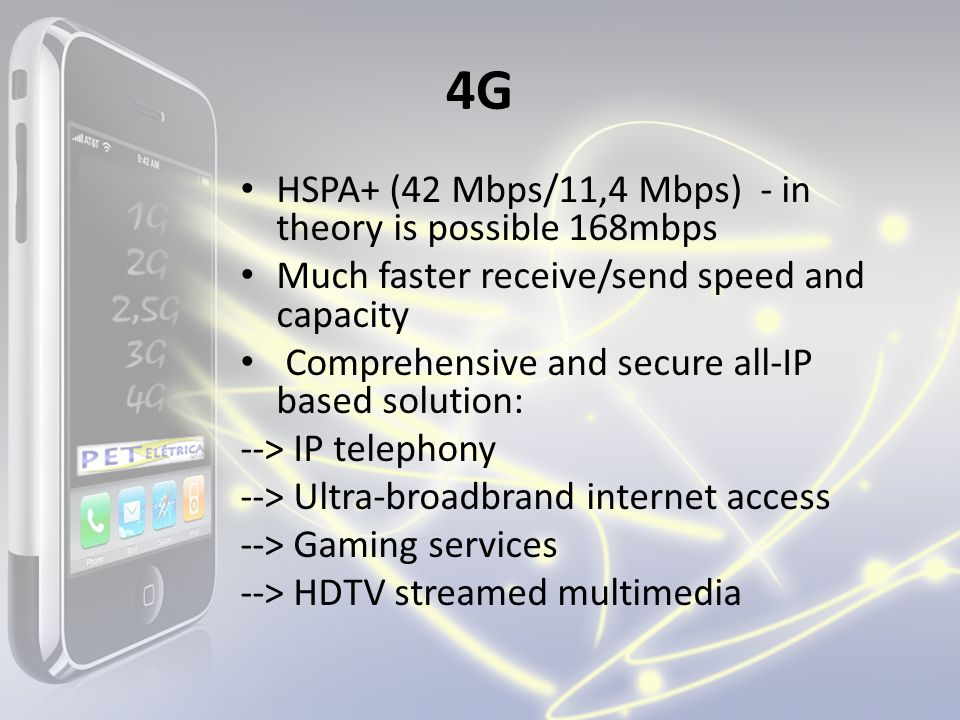 4G HSPA+ (42 Mbps/11,4 Mbps) - in theory is possible 168mbps