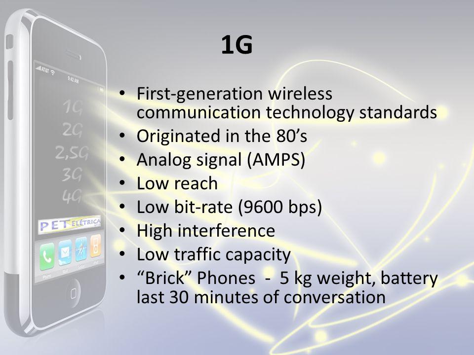 1G First-generation wireless communication technology standards