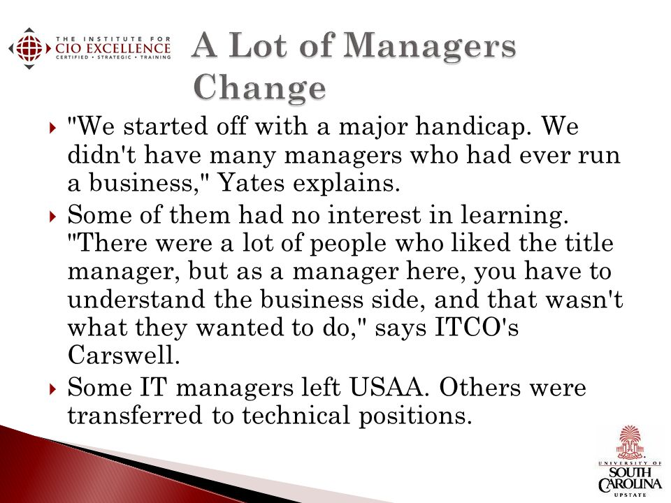 A Lot of Managers Change