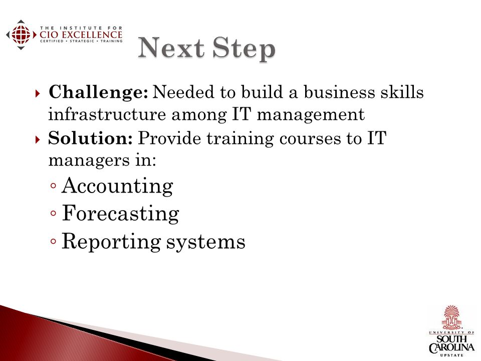 Next Step Accounting Forecasting Reporting systems