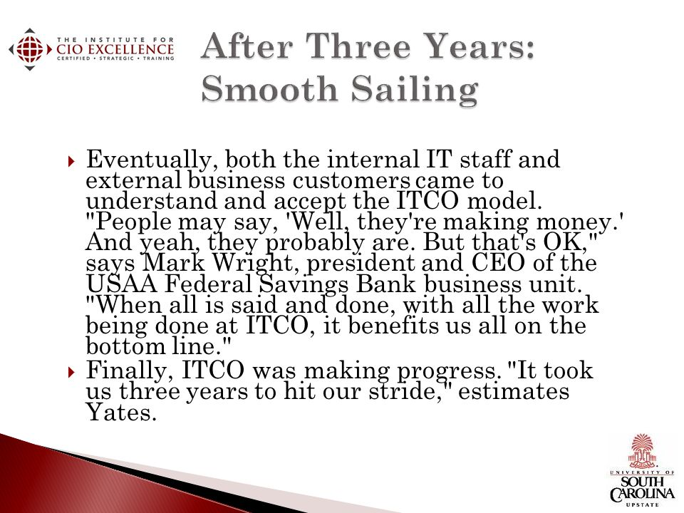 After Three Years: Smooth Sailing