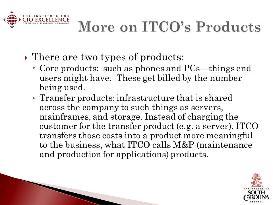 More on ITCO's Products