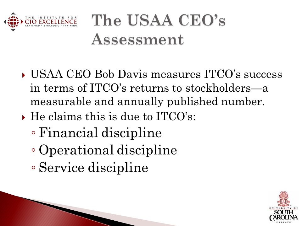 The USAA CEO's Assessment