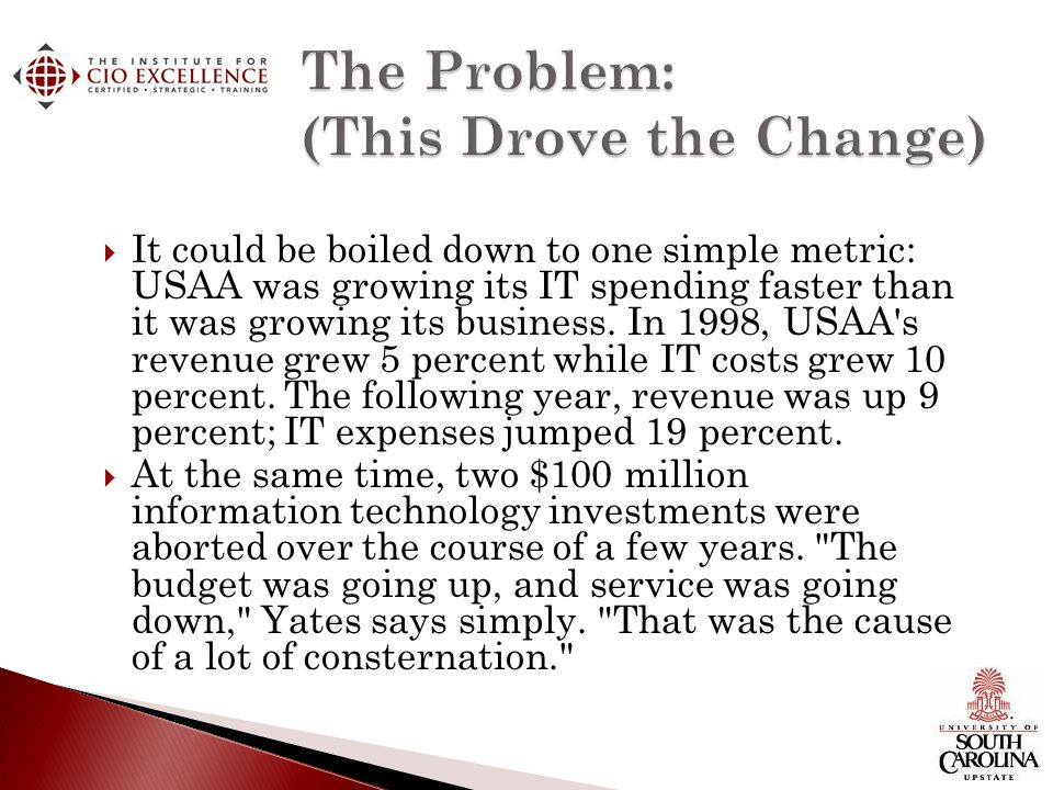The Problem: (This Drove the Change)