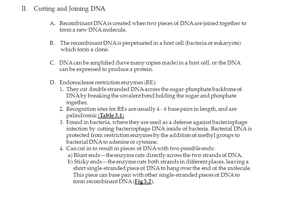 Cutting and Joining DNA