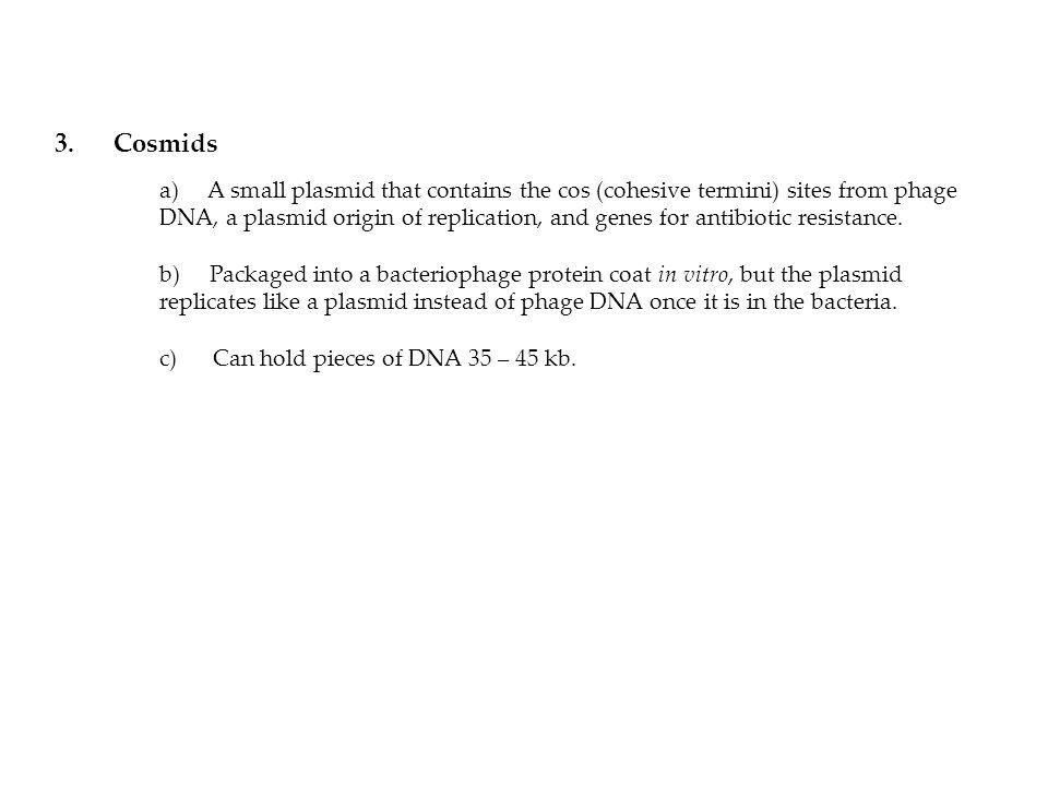 3. Cosmids