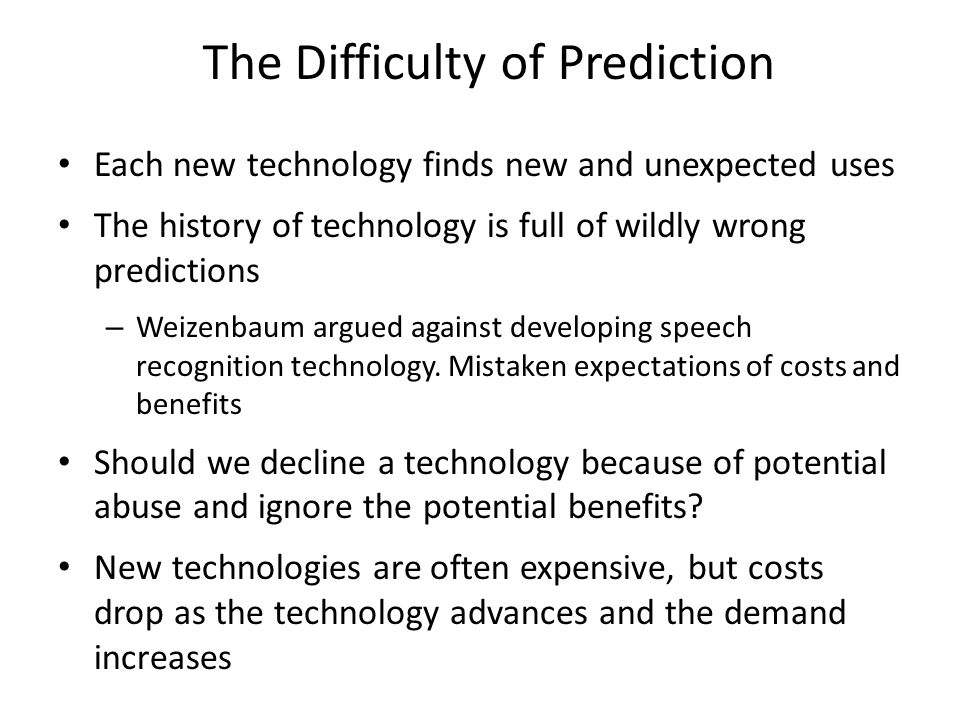 The Difficulty of Prediction