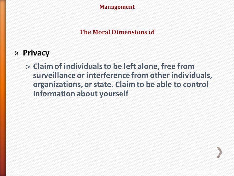The Moral Dimensions of
