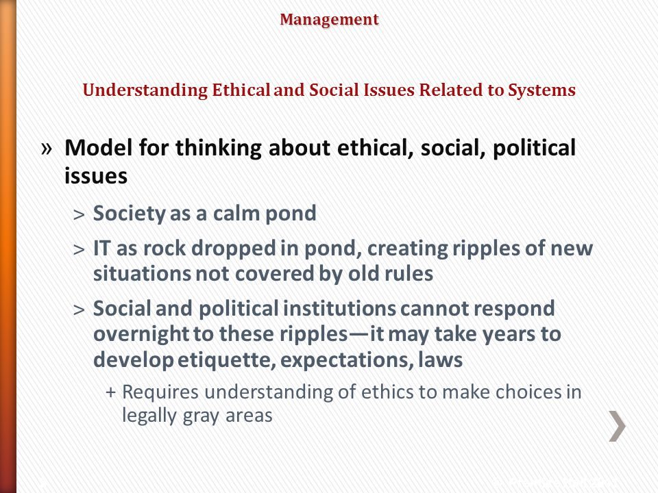 Understanding Ethical and Social Issues Related to Systems