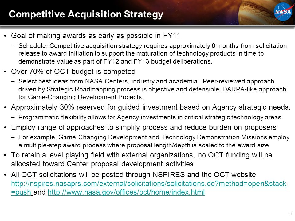 Competitive Acquisition Strategy