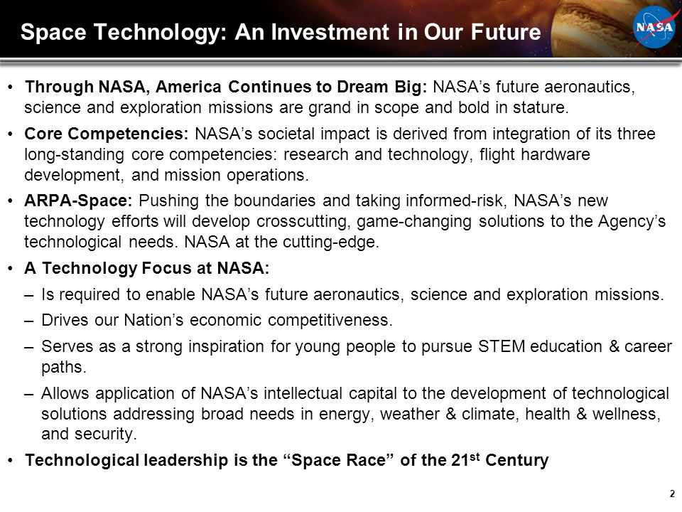 Space Technology: An Investment in Our Future