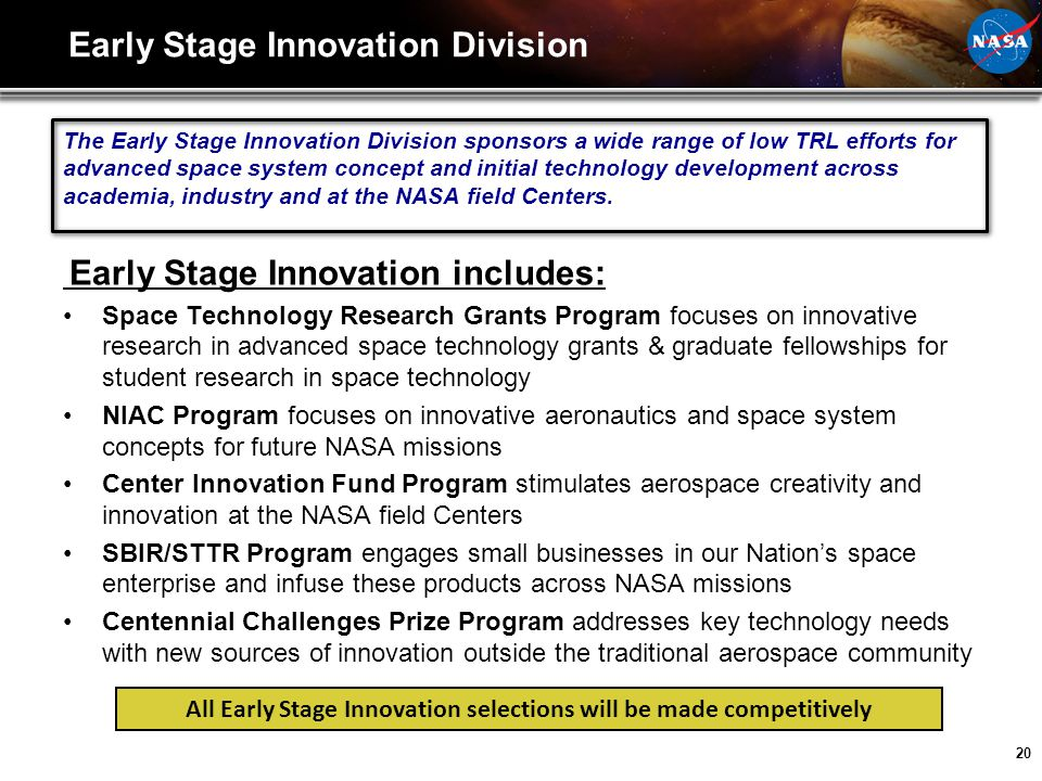 Early Stage Innovation Division