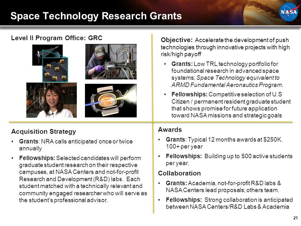 Space Technology Research Grants