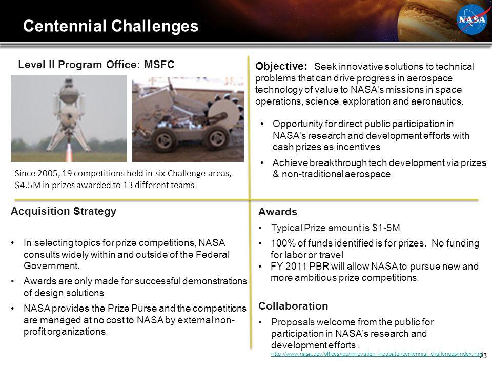 Centennial Challenges