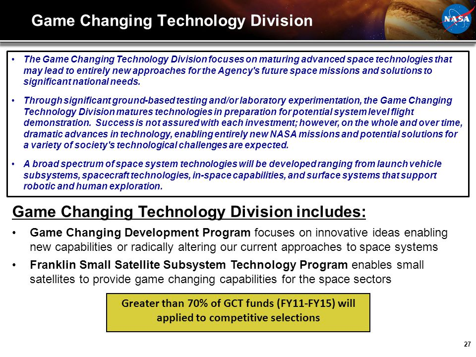 Game Changing Technology Division