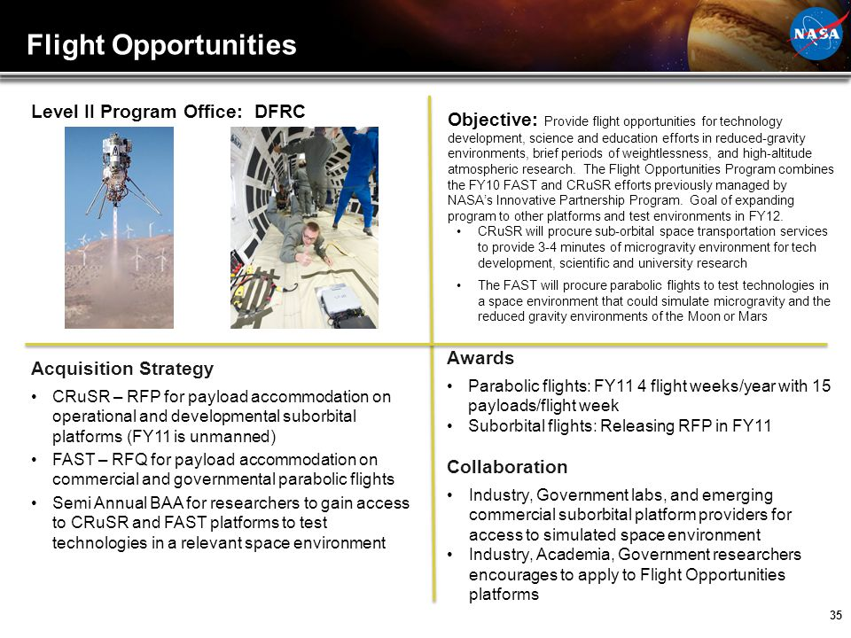 Flight Opportunities Level II Program Office: DFRC