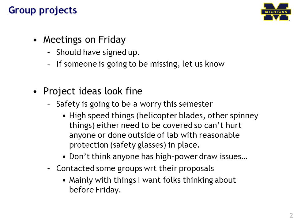 Project ideas look fine