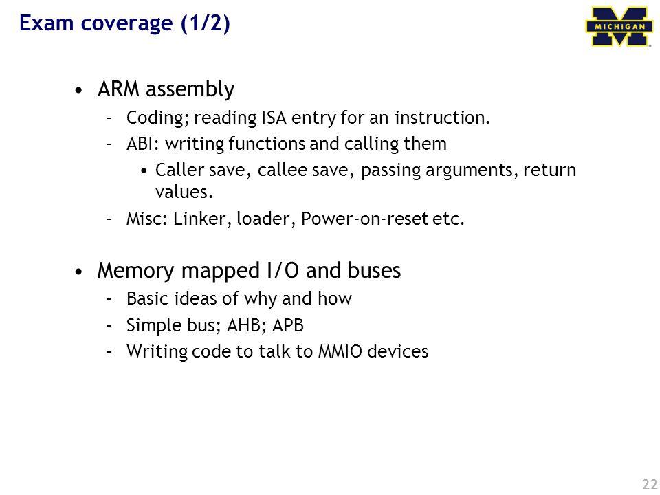 Memory mapped I/O and buses