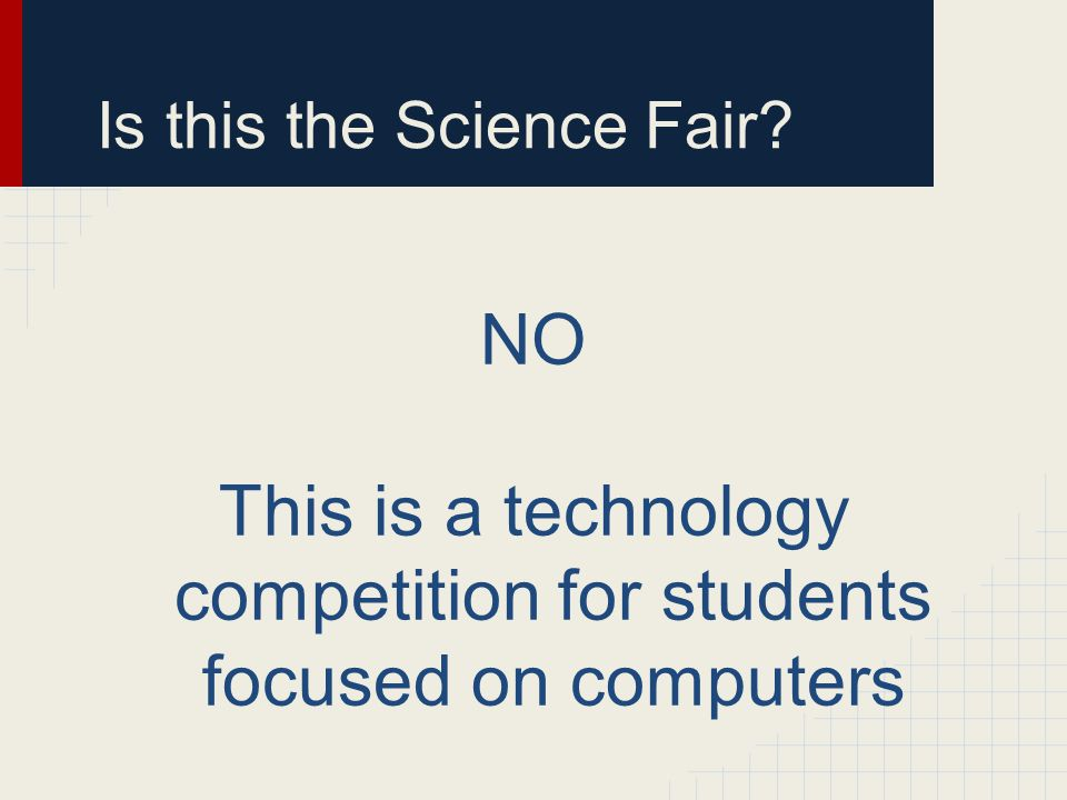 Is this the Science Fair
