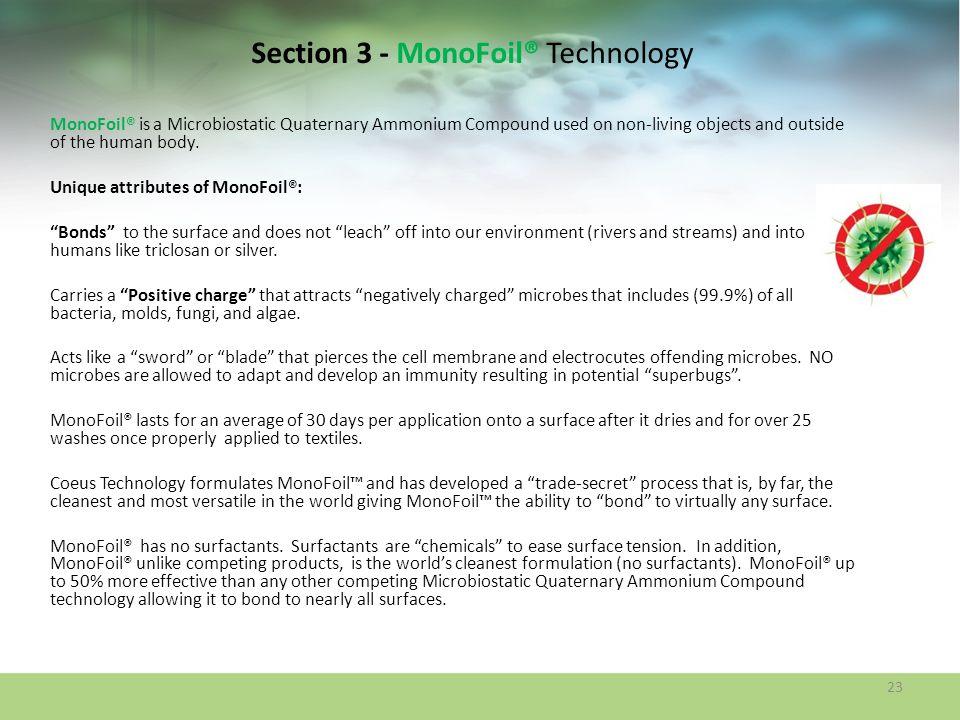 Section 3 - MonoFoil® Technology