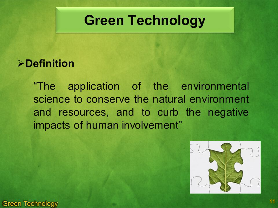 Green Technology Definition