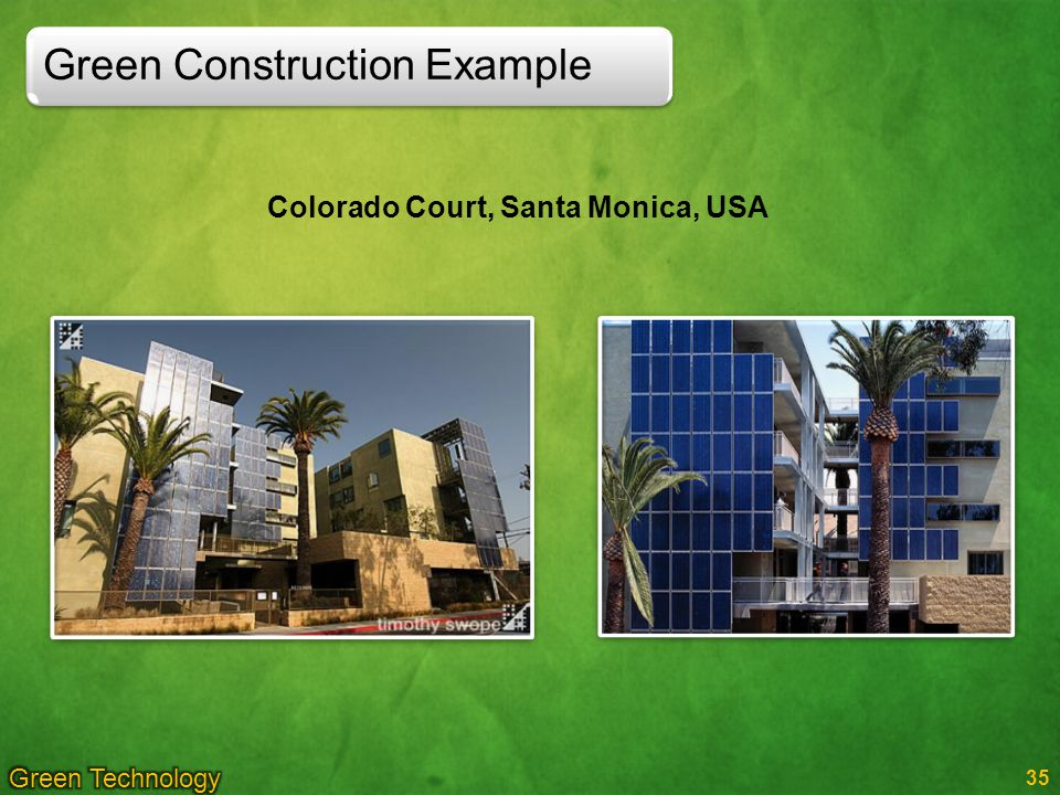 Green Construction Example