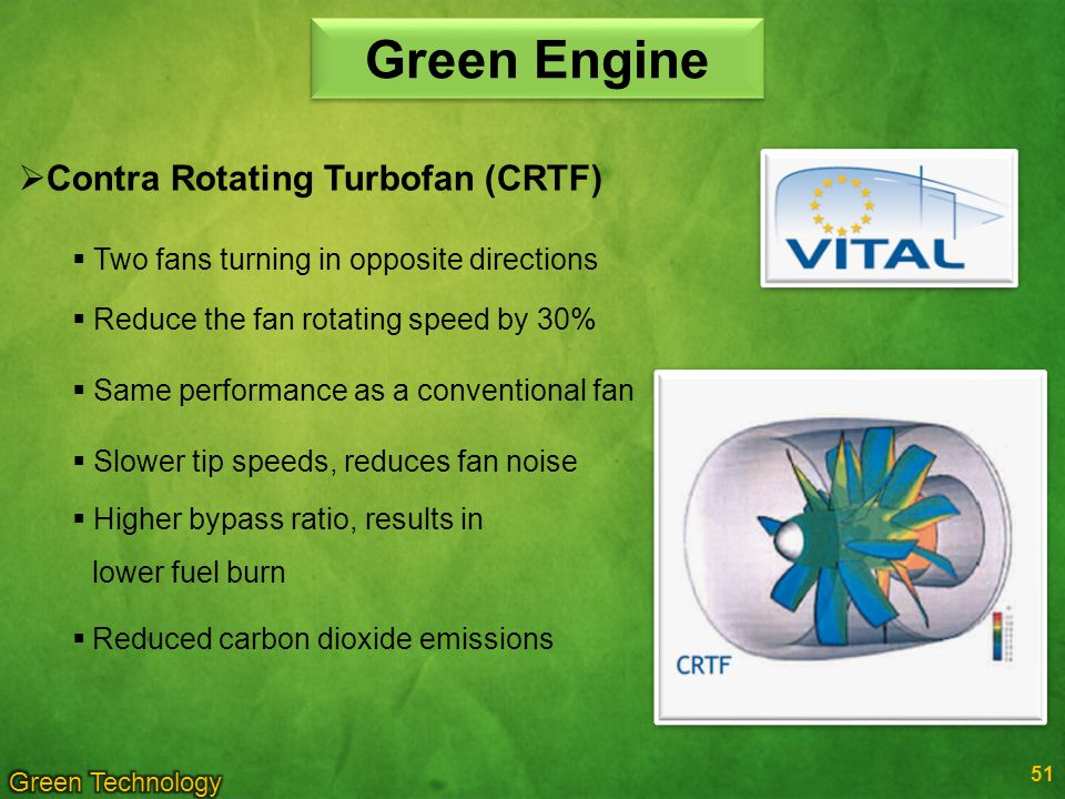 Green Engine Contra Rotating Turbofan (CRTF)