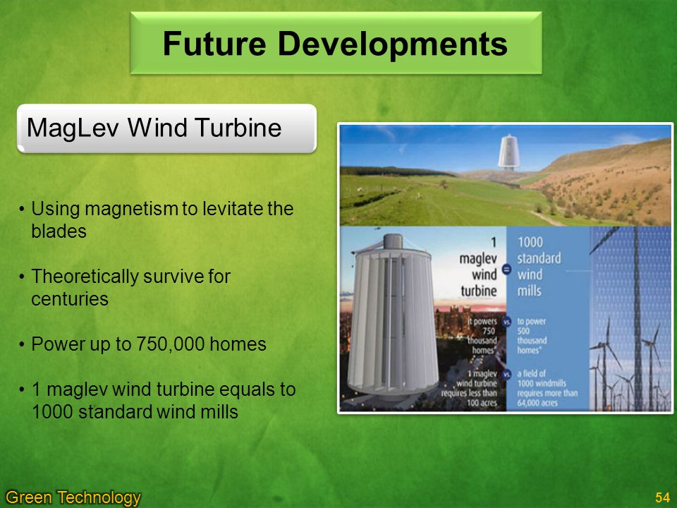 Future Developments MagLev Wind Turbine