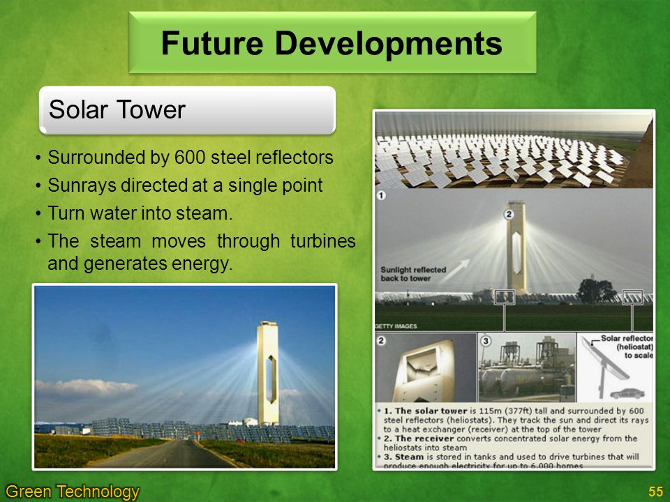 Future Developments Solar Tower Surrounded by 600 steel reflectors