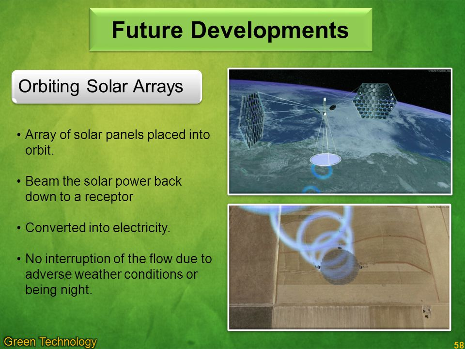 Future Developments Orbiting Solar Arrays